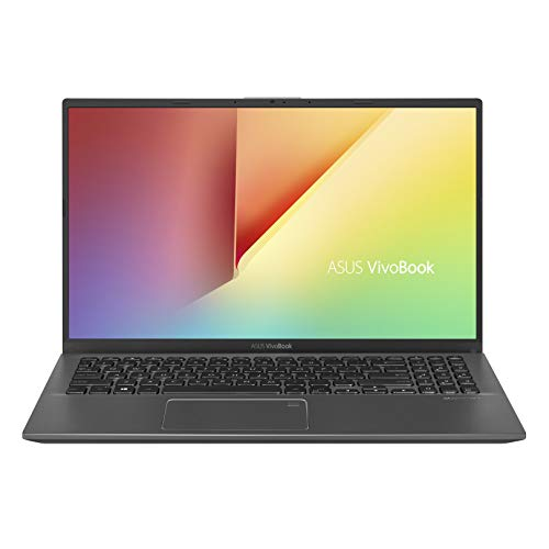 "ASUS VivoBook F512 Thin & Light Laptop, 15.6"" FHD NanoEdge WideView, AMD R5-3500U, 8GB DDR4, 128G SSD + 1TB HDD, Backlit KB, Fingerprint, Windows 10, Slate Grey, F512DA-EB55"