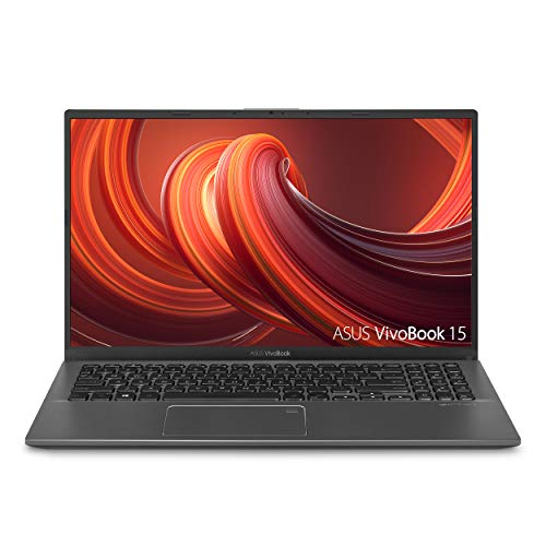 "ASUS VivoBook 15 Thin and Light Laptop- 15.6"" Full HD, Intel i5-1035G1 CPU, 8GB RAM, 512GB SSD, Backlit KeyBoard, Fingerprint, Windows 10- F512JA-AS54, Slate Gray"